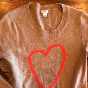 J Crew heart sweater